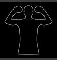 boxer the white path icon vector image