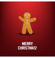 Xmas cookies With Red Background vector image