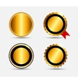 Set of Gold Label Template vector image vector image