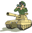 tank battle general vector image