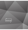 Abstract background gray triangle vector image