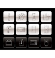 kitchen and home equipment icons vector image vector image