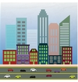 View of the city in style flat vector image