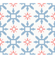 Christmas knitted seamless pattern with snowflakes vector image