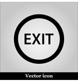 Exit icon on grey background vector image
