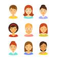 girl avatar icons set vector image
