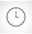 Grey clock icon vector image