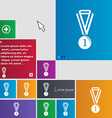 medal for first place icon sign buttons Modern vector image