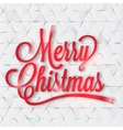 Merry Christmas greeting card on the paper vector image