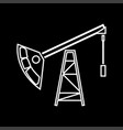 oil rig it is icon vector image