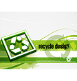 recycle baner background vector image