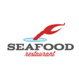 seafood restaurant with claw and fish vector image