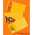 Set of three cards Thanksgiving day vector image