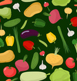 Vegetables seamless pattern background of tomatoes vector image