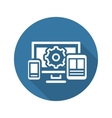 Website Optimization Icon Flat Design vector image