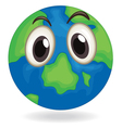 earth globe face vector image