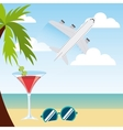 beach landscape vacations icon vector image