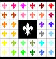 elements for design  felt-pen 33 colorful vector image