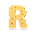 R cheese letter Symbol isolated on white vector image vector image