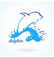 dolphin sea sketch vector image vector image
