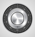 3d realistic combination safe lock vector image