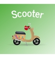 Old scooter vector image