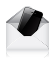 Modern phone in envelope vector image