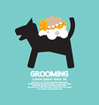 Dog Shower With Soap And Sponge Pet Grooming vector image