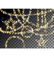 Falling Christmas shining gold glitter garlands vector image