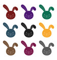 grey rabbit with long ears easter single icon in vector image