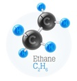 Physical chemical molecule vector image