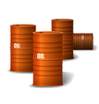 Red Oil barrel vector image