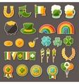 Saint Patricks Day sticker icons set vector image