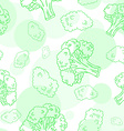 seamless pattern with broccoli vector image
