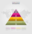 triangle pyramid steps business infographics vector image