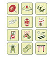 Japanese icons  bamboo series vector image vector image