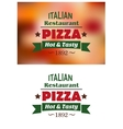 Italian pizza restaurant emblems or labels vector image
