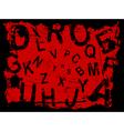 grunge letter background vector image vector image