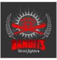 Bandits and hooligans - emblem of criminal vector image