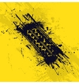 Tire track on yellow vector image