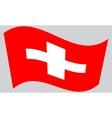 Flag of Switzerland waving vector image