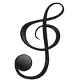 A G-clef vector image