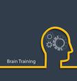 Brain training vector image