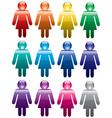 colorful woman symbols vector image