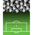 football field and Ball Lot of balls Soccer vector image