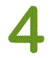 Four Leaf Clover of Alphabet Numbers 4 vector image