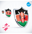 I Love Kenya Flag vector image