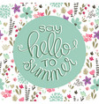summer logo design for banner poster cover vector image