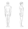 template of men figure vector image