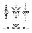 Tribal Hand Drawn elements vector image